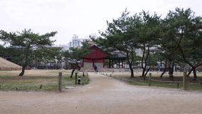 Panorama on traditional Korean building in Samneung park, Seoul, South Korea