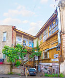 Panorama traditioneller Tiflis-Stadtwohnung stockfotografie