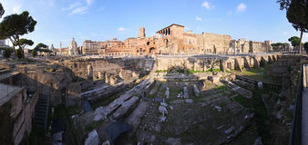 Panorama Trajan Forum Royalty Free Stock Photos