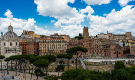 Panorama of Trajan Market Royalty Free Stock Photography