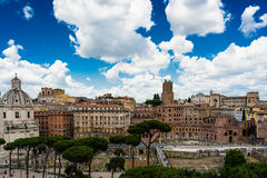 Panorama of Trajan Market Stock Images