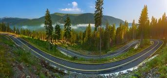 Panorama of Transalpina road in Romania Royalty Free Stock Photo