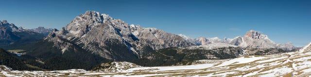 Panorama of Tre Cime di Lavaredo Stock Photos