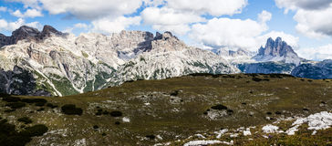 Panorama of Tre Cime - Italy Royalty Free Stock Images