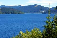 Panorama: treasure from silver lake stock photography
