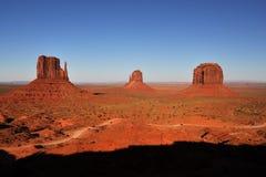 Panorama tribal de stationnement d'Indien de Navajo de vallée de monument Photos stock