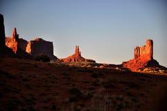 Panorama tribale della sosta dell'indiano di Navajo della valle del monumento Immagini Stock