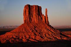 Panorama tribale della sosta dell'indiano di Navajo della valle del monumento Fotografia Stock