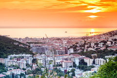 Panorama of Trieste, Italy Stock Images