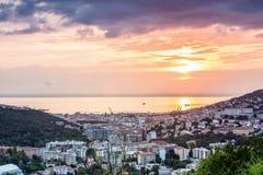 Panorama of Trieste, Italy Stock Photos