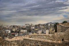Tripoli City Panorama. A panorama of Tripoli city in the North of Lebanon stock photo