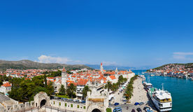 Panorama of Trogir in Croatia Royalty Free Stock Photo