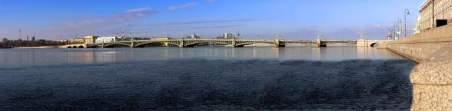 Panorama of the Troitsk bridge Stock Images