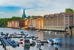 Trondheim old city view. Norway, Scandinavia, Europe Stock Photo