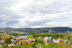 Panorama of Trondheim. Panoramic view on city of Trondheim in summer Stock Photos