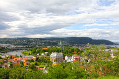 Panorama of Trondheim Stock Images
