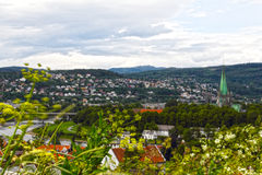 Panorama of Trondheim Stock Image