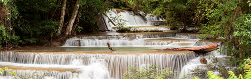 Panorama Tropial Waterfall Royalty Free Stock Photography