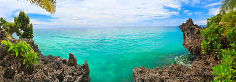 Panorama tropical fotografia de stock royalty free