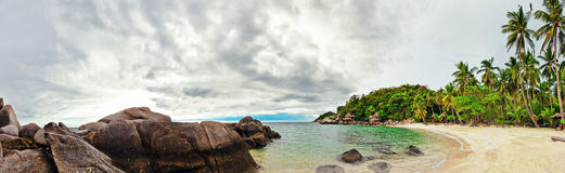 Panorama of tropical beach Royalty Free Stock Photography