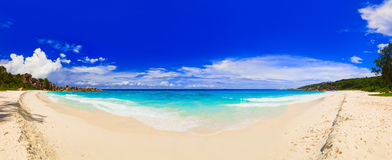 Panorama of tropical beach Royalty Free Stock Photo