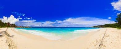 Panorama of tropical beach royalty free stock photo