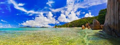 Panorama of tropical beach stock photo