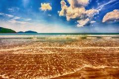 Panorama of tropical beach of Hainan island Royalty Free Stock Photos