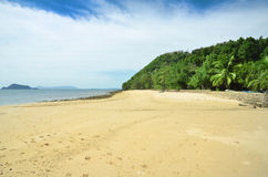 Panorama of tropical beach Stock Photos