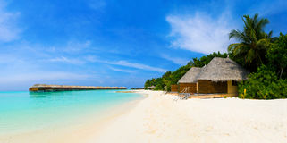 Panorama of tropical beach Stock Photography