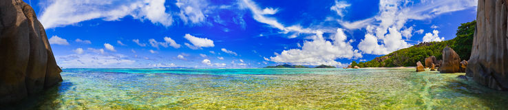 Panorama of tropical beach Royalty Free Stock Image