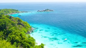 Panorama of the tropical coast. Thailand, Similan Islands, Ko Miang stock footage