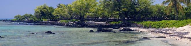 Panorama tropical de la costa fotografía de archivo
