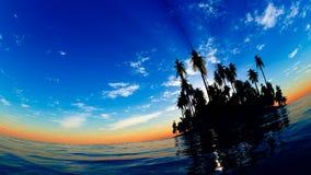 Panorama tropical de la isla Imagen de archivo libre de regalías