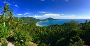 Panorama tropical de la isla de Koh Tao Imagen de archivo