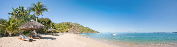 Panorama tropical de la playa Imagen de archivo
