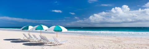 Panorama tropical de plage Images libres de droits