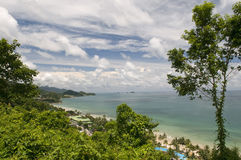 Panorama of tropical island. Royalty Free Stock Photos