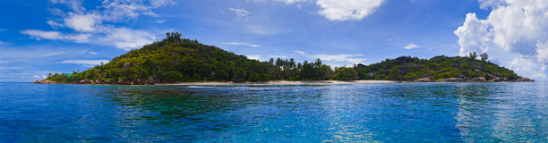 Panorama of tropical island Royalty Free Stock Photography