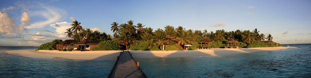 Panorama of a tropical island Stock Photography