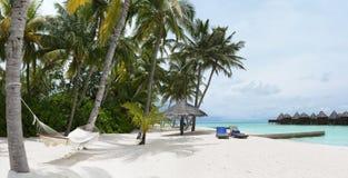 Panorama of tropical island resort stock photos