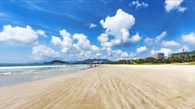 Panorama tropikalna plaża Hainan wyspa - Chiny Obrazy Stock