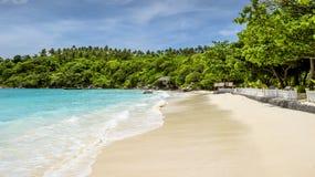 Panorama tropikalna plaża, Tajlandia Zdjęcie Stock