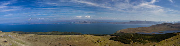 Panorama of the Trotternish Peninsula Stock Photography