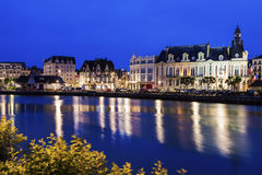 Panorama of Trouville-sur-Mer Stock Photography