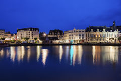 Panorama of Trouville-sur-Mer Stock Images