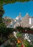Panorama trulli w Alberobello Obraz Royalty Free