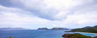 Panorama of trunk bay Stock Image