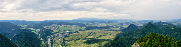 Panorama from Trzy Korony mountain, Pieniny, Poland Stock Photography