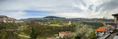 Panorama of tsarevets stronghold. In veliko tarnovo, Bulgaria Stock Images